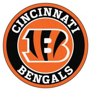 NFL Cincinnati Bengals Black 2 ft. Round Area Rug