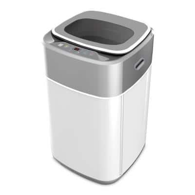 1.0 cu. ft. Compact Top Loading Washing Machine in Grey with Stainless Steel Drum