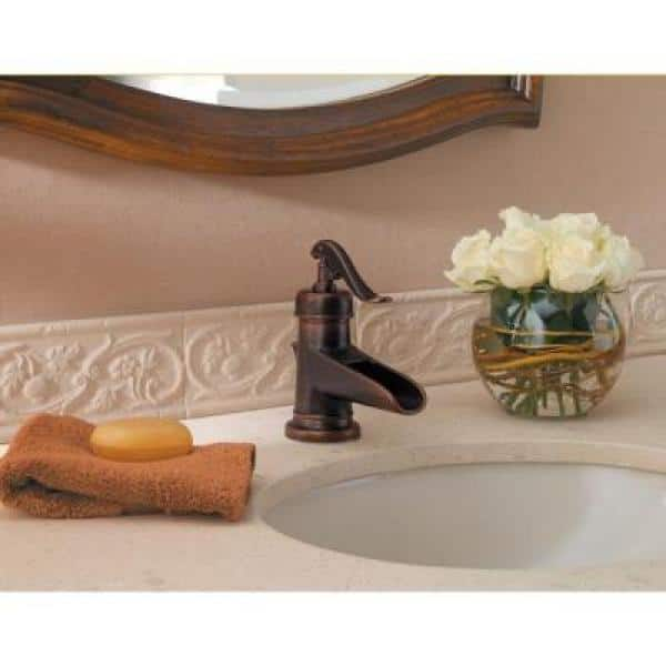 Pfister - Ashfield 4 in. Centerset Single-Handle Bathroom Faucet in Rustic Bronze