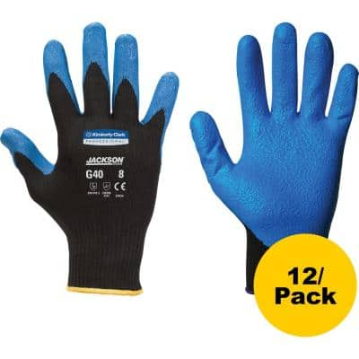 G40 Black/Blue Foam Nitrile Coated Gloves (6-Pairs)