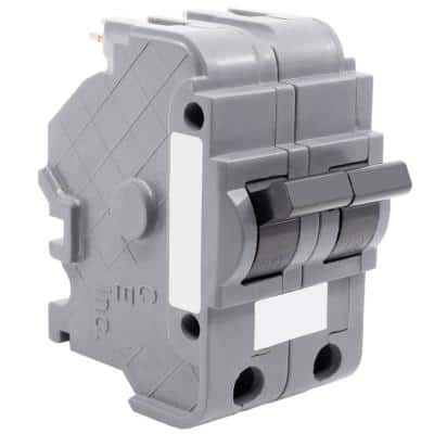 New UBIF Thick 50 Amp 2 in. 2-Pole Federal Pacific Stab-Lok NA250 Replacement Circuit Breaker