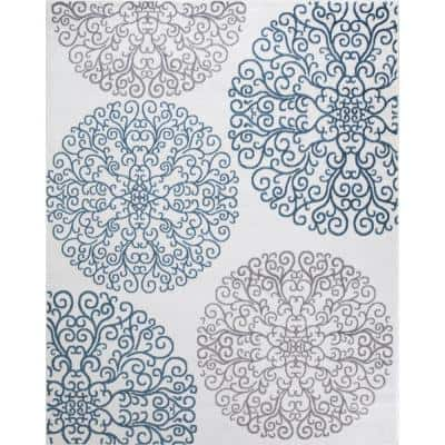 Madison Collection Vintage Ivory 7 ft. 10 in. x 9 ft. 10 in. Area Rug