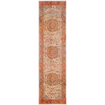 Vintage Persian Saffron/Cream 2 ft. x 8 ft. Runner Rug