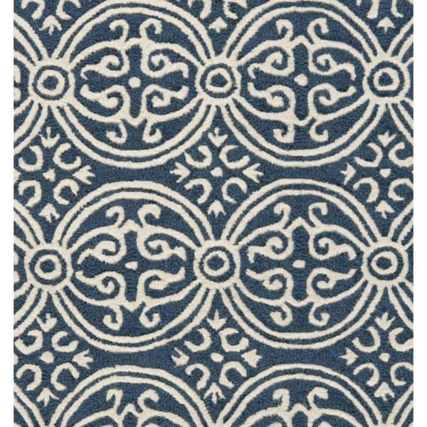 Safavieh Cambridge Navy Blue Ivory 5 Ft X 8 Ft Area Rug Cam123g 5 The Home Depot