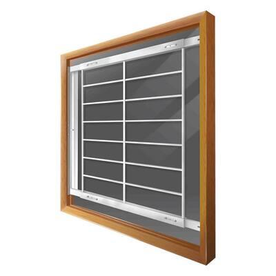 Swing-Away 52 in. to 64 in. Adjustable Width 8-Bar Window Guard, White
