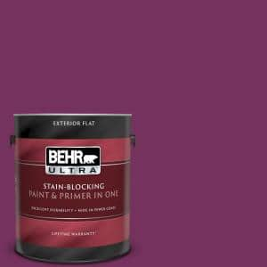 Behr Ultra 1 Gal 690b 7 Plum Jam Flat Exterior Paint And Primer In One 485301 The Home Depot