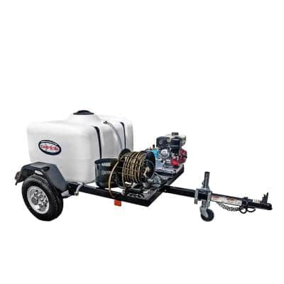 95001 3800 PSI at 3.5 GPM HONDA GX270 Cold Water Pressure Washer Trailer