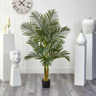 5 ft. Artificial Double Stalk Golden Cane Palm Tree