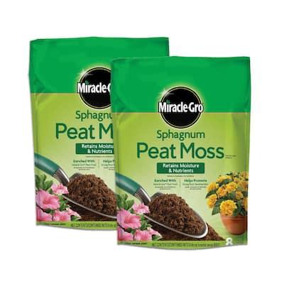 16 Qt. Sphagnum Peat Moss (2-Pack)