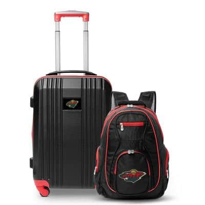 NHL Minnesota Wild 2-Piece Set Luggage and Backpack