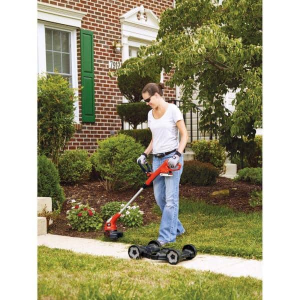 Decdeal Cordless Electric Lawn Mower Handheld Portable Lightweight Mowing Machine Trimmer USB Rechargeable Electric Mower Weed Eater