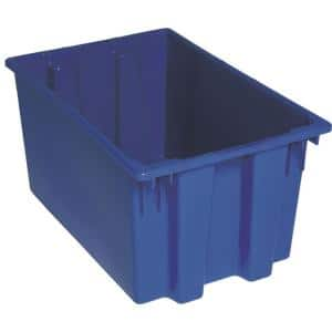 12 Gal. Genuine Stack and Nest Tote in Blue (Lid Sold Separately) (3-Carton)