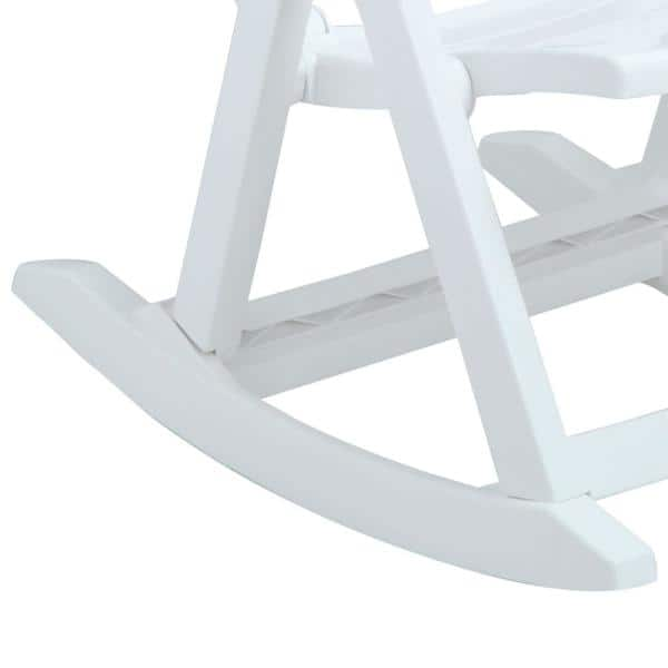 Inval Rimax White Plastic Rocking Chair 10002 The Home Depot