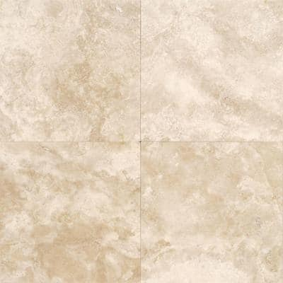 Travertine Torreon 12 in. x 12 in. Natural Stone Floor and Wall Tile (10 sq. ft. / case)