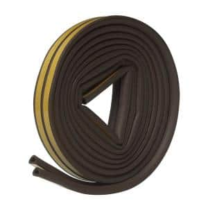 5/16 in. x 1/4 in. x 17 ft. Brown EPDM Cellular Rubber Weather-Strip Tape