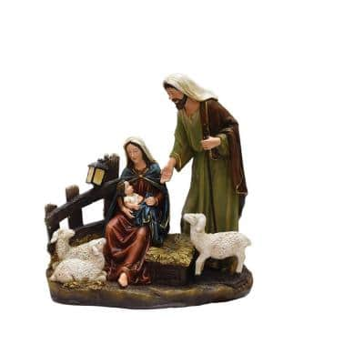 13 in. Nativity Scene with Joseph Mary and Baby Jesus Religious Christmas Table Top Figure