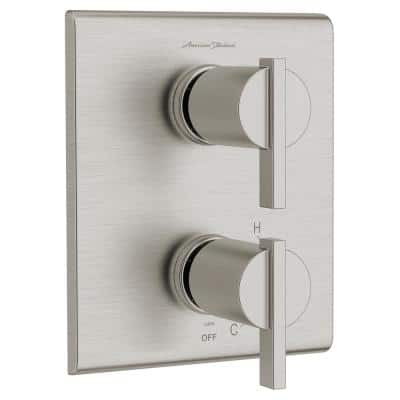 Times Square 2-Handle Wall Mount Diverter Valve Trim Kit in Brushed Nickel (Valve Not Included)