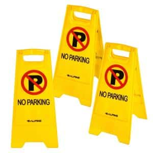 24 in. 2-Sided Fold-Out Floor Safety Sign No Parking (3-Pack)