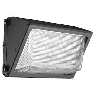 Contractor Select TWR 250-Watt Equivalent 6200 Adjustable Lumens Dark Bronze Wall Pack Light 4000K