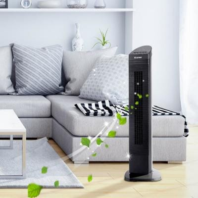 35.5 in. Height Oscillating Tower Fan with Bladeless 3 Speed