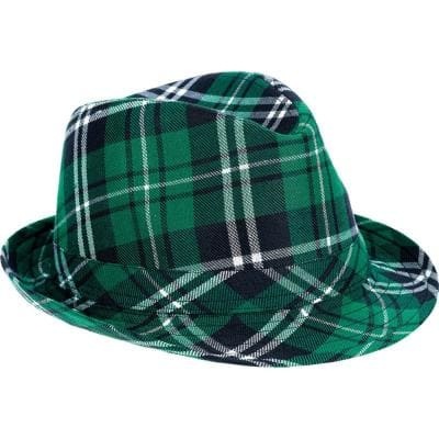 Green St. Patrick's Day Plaid Fedora