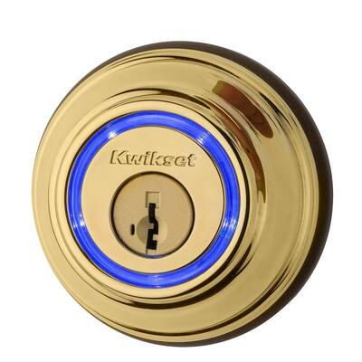 Kevo 2nd Gen Lifetime Polished Brass Single Cylinder Touch-to-Open Bluetooth Smart Lock Deadbolt Multi Device Friendly