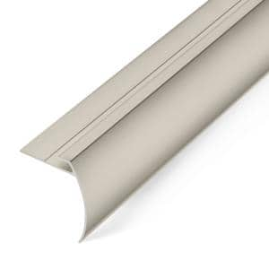8 mm Satin Nickel 1.75 in. x 74 in. Aluminum Tap Down Stair Trim and Transition