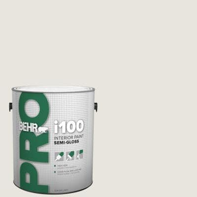 Behr Pro 1 Gal 790c 1 Irish Mist Semi Gloss Interior Paint Pr17001 The Home Depot