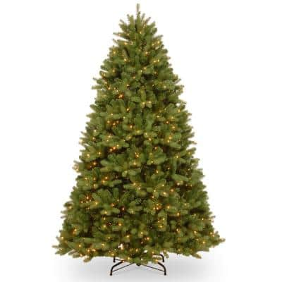 6-1/2 ft. Feel Real Newberry Spruce Hinged Tree with 650 Clear Lights