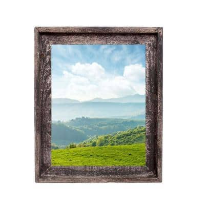 Rustic Farmhouse Signature Series 11 in. x 14 in. Smoky Black Reclaimed Picture Frame