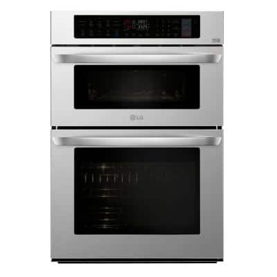 30 in. Electric Convection and EasyClean Wall Oven with Built-In Microwave in Stainless Steel