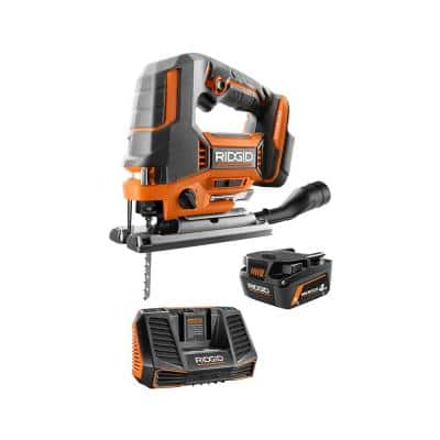 18V Brushless Cordless Jig Saw Kit with 4.0 Ah MAX Output Battery and Charger
