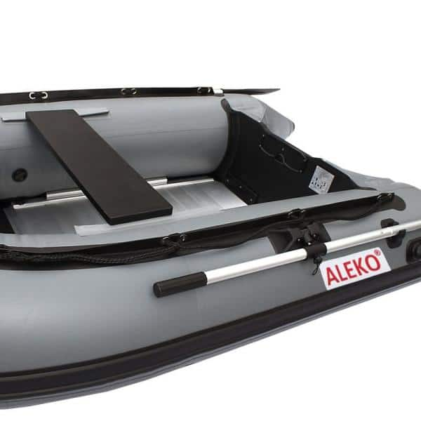 ALEKO/® BT250CM Inflatable Camouflage Boat 8.4 Feet Aluminum Floor 4 Person Motor Fishing Boat Raft Sport 3 Keel Air Chambers Heavy Duty Design with Splash Guards