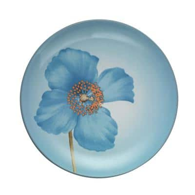 Colorwave Ice Light Blue Stoneware Blue Poppy Accent Plate 8-1/4 in.