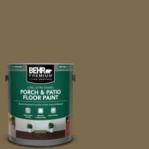 1 gal. #PPU8-01 Olive Low-Lustre Enamel Interior/Exterior Porch and Patio Floor Paint