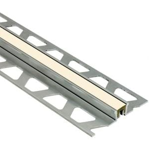 Dilex-KSN Aluminum with Sand Pebble Insert 1/2 in. x 8 ft. 2-1/2 in. Metal Movement Joint Tile Edging Trim