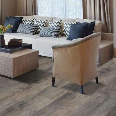 XP Summit Grey Oak 8 mm T x 7.48 in. W x 47.24 in. L Laminate Flooring (19.63 sq. ft. / case)