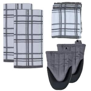 Kitchen Basics Cotton Charcoal Kitchen Textiles (Set of 8)