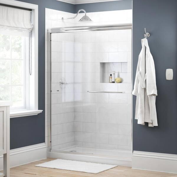 Delta Simplicity 60 In X 70 Semi, Shower Stall Glass Doors Home Depot