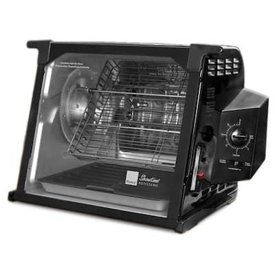 4000 Series 7.5 Qt. Black Rotisserie Oven
