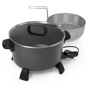 10 qt. Black Kitchen Kettle Deep Fryer-Multi Cooker