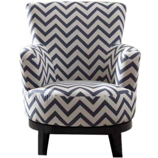 Swivel Multi Color Accent Chair With, Patterned Living Room Chairs