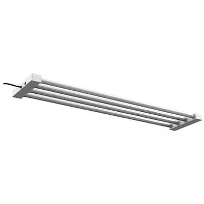 4 ft. 4-Light 76-Watt White Integrated Utility LED Shop Light