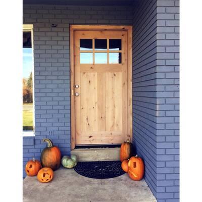 Krosswood Craftsman Rustic Knotty Alder Prehung Entry Door