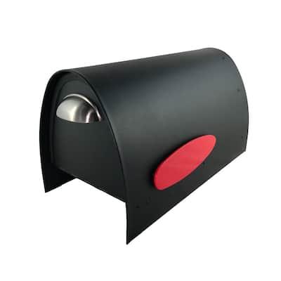 Spira Matte Black Powdercoated 316 Stainless Steel Post Mounted Non-Locking Mailbox