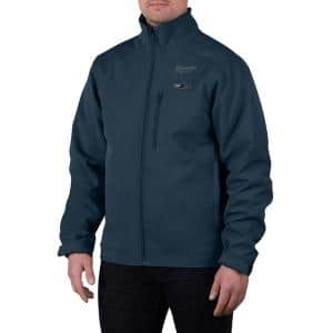 Men's Large M12 12V Lithium-Ion Cordless TOUGHSHELL Navy Blue Heated Jacket with (1) 3.0 Ah Battery and Charger