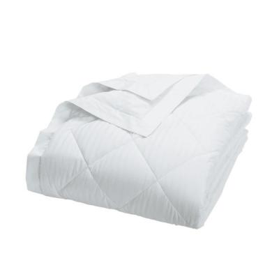 Legends Damask Stripe PrimaLoft Down Alternative White King Blanket