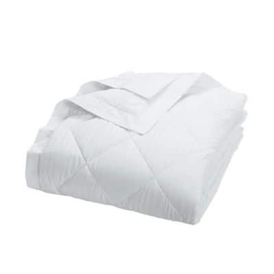 Legends Damask Stripe PrimaLoft Down Alternative White Queen Blanket