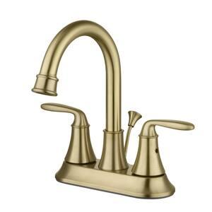 Sadira 4 in. Centerset 2-Handle High-Arc Bathroom Faucet in Matte Gold