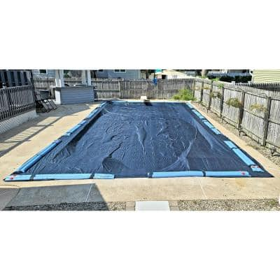 WINTER BLOCK 8 Year 16X32' Rectangular Blue In Ground Winter Pool Cover